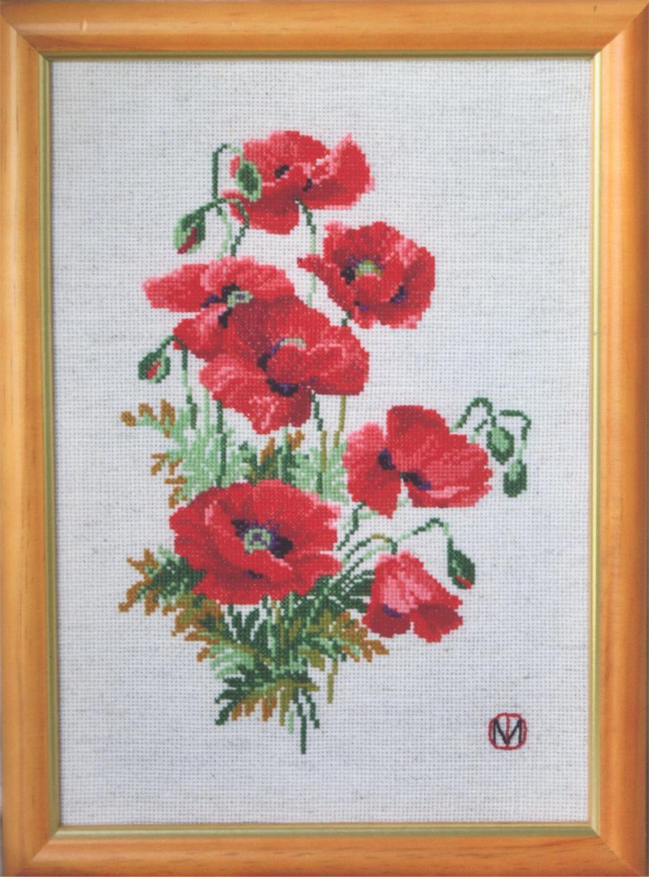 Вышивка крестом риолис чайные розы