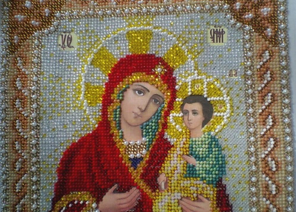 Вышивка божьей матери троеручица