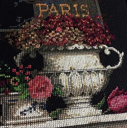Вышивка fleur de paris