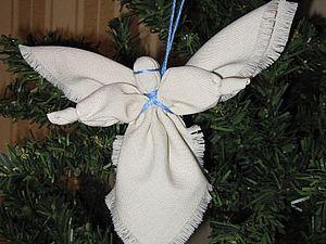 Ангел на ёлку своими руками из ткани