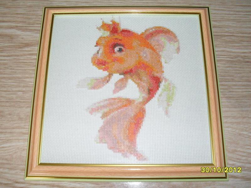 Схемы для вышивки бисером золотая рыбка 5