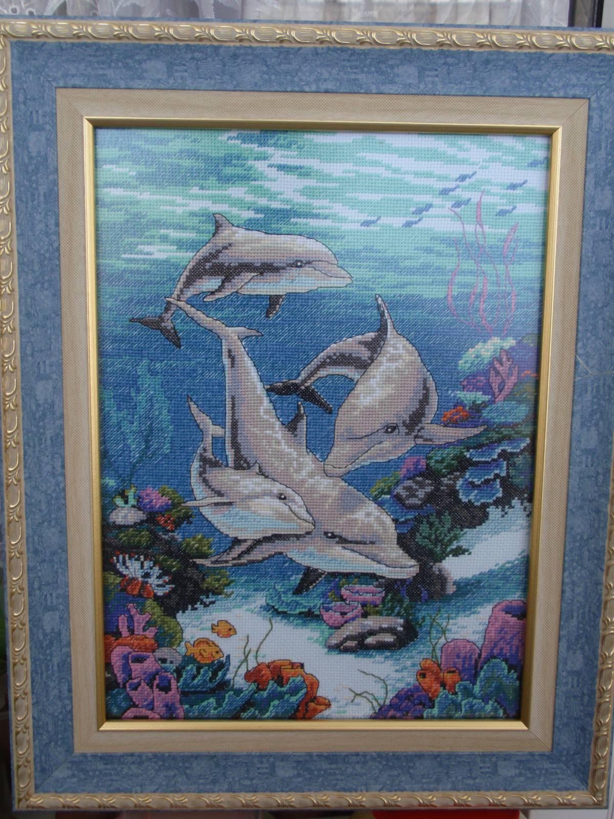 Вышивки для детей. Дельфин, рисунки для вышивки крестом 41