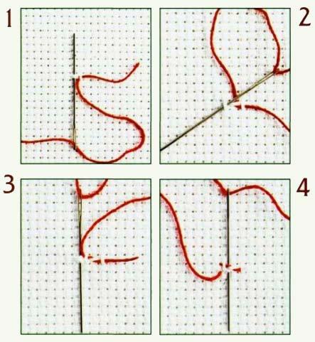 """Здесь мы расскажем Вам, как начать вышивание нечетным количеством нитей по ткани  """"Аида """" ирисом 5 и 8 или..."""