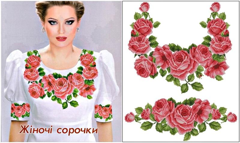 Сорочка с розами