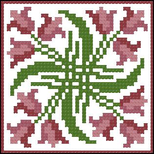 Схема вышивки бискорню игольницы
