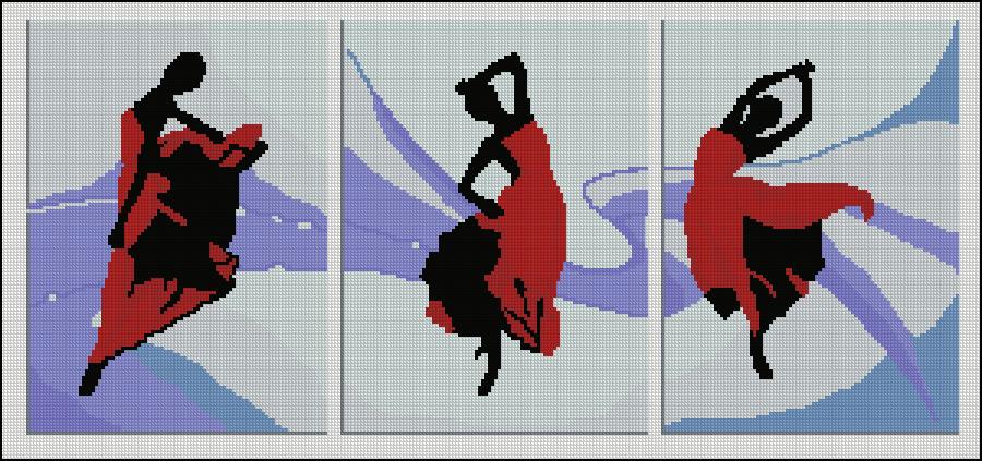 триптих - страстные танцы