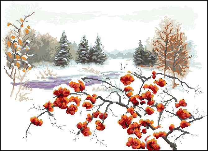 Зимняя рябина