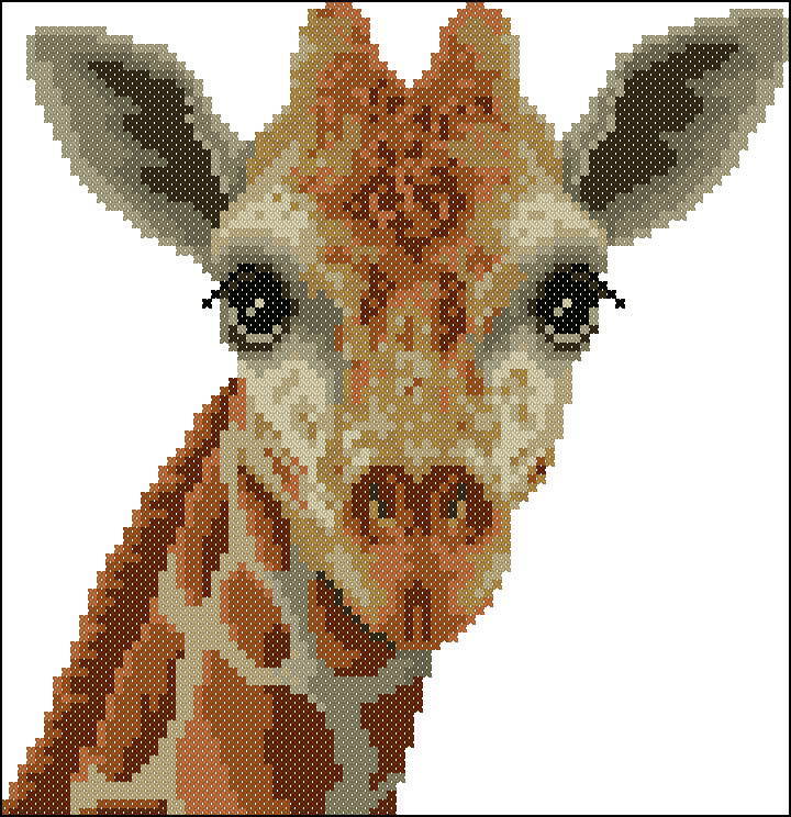 Скачать бесплатно вышивка жирафы