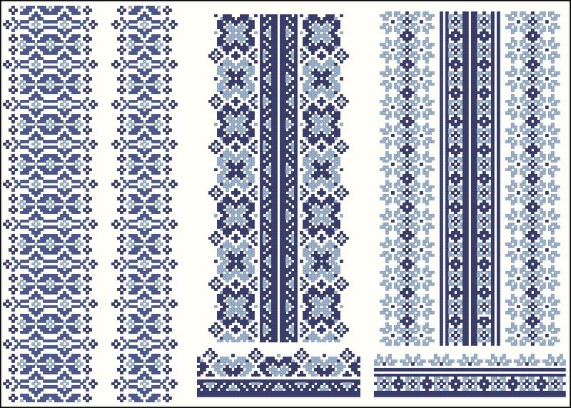 Украинская сорочка схема вышивки крестом