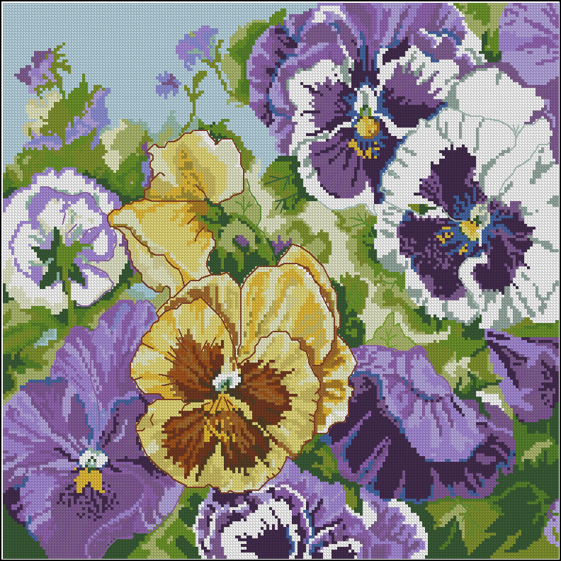 Glorions Pansies Pillow