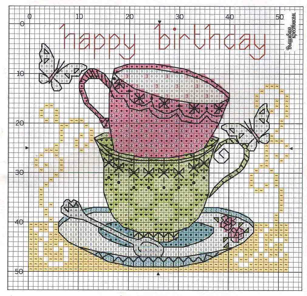 Вышивки крестом схемы кофе чай 60