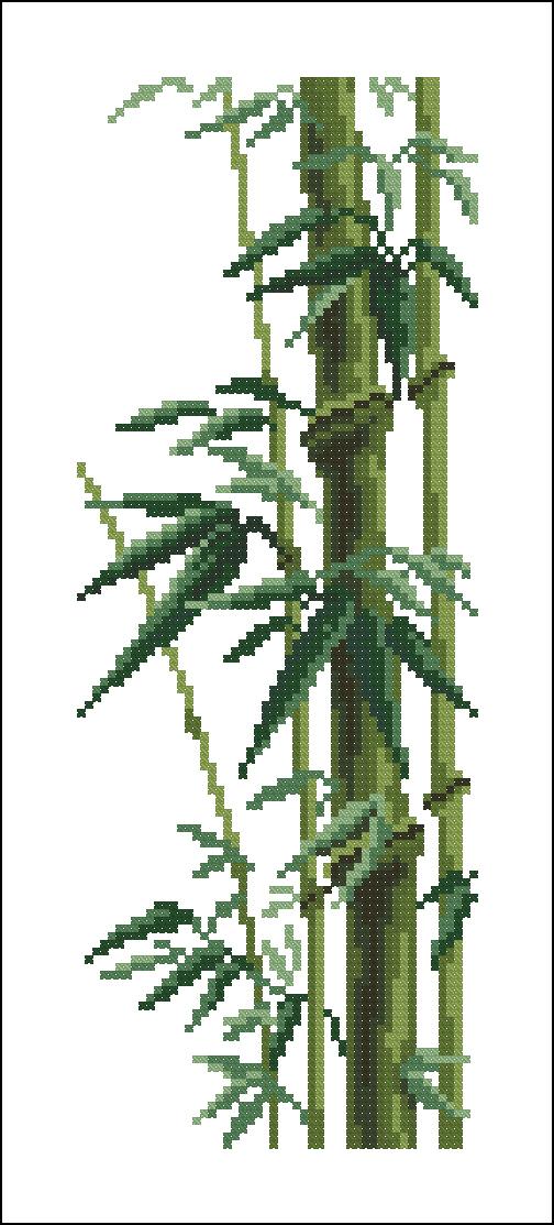 Схемы вышивки крестом бамбуки