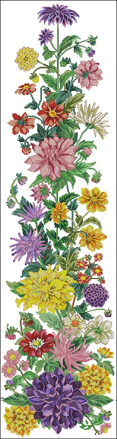 Dahlias tablerunner