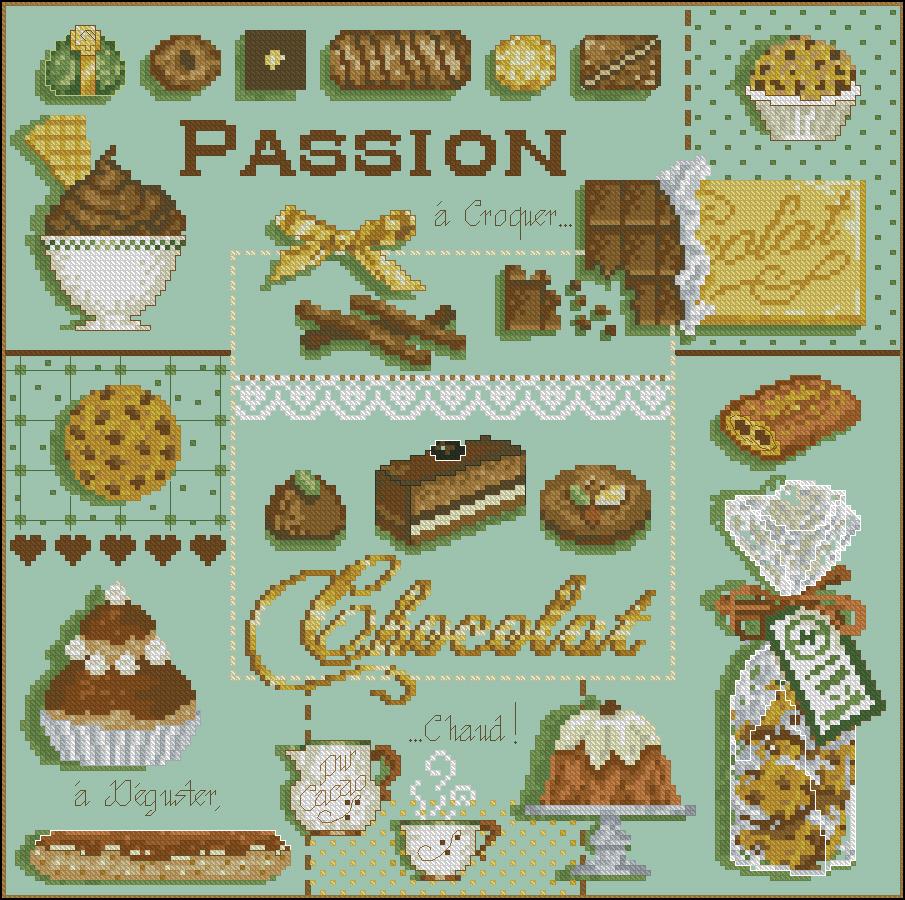 Вышивка крестом шоколад