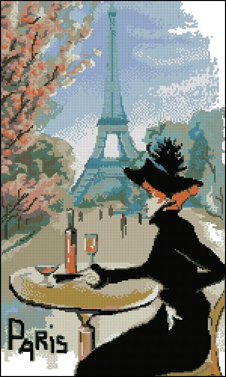 Париж вышивка крестом бесплатные схемы