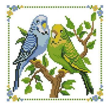 Вышивка крестиком и их схемы попугаи