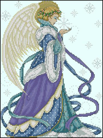 вышивки любви схемы крестом-ангел
