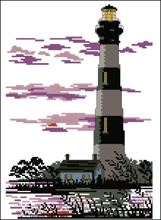 Вышивка крестом маяк схемы скачать бесплатно