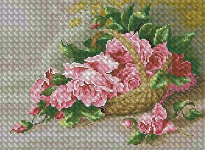 Roses in basket