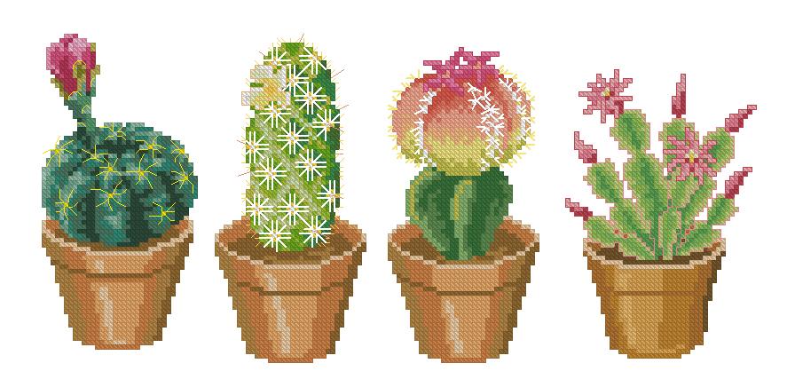 Вышивка кактусов схемы