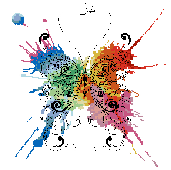 Бабочка-радуга