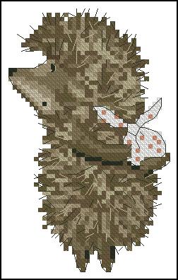Ежик в тумане схема для вышивки крестом