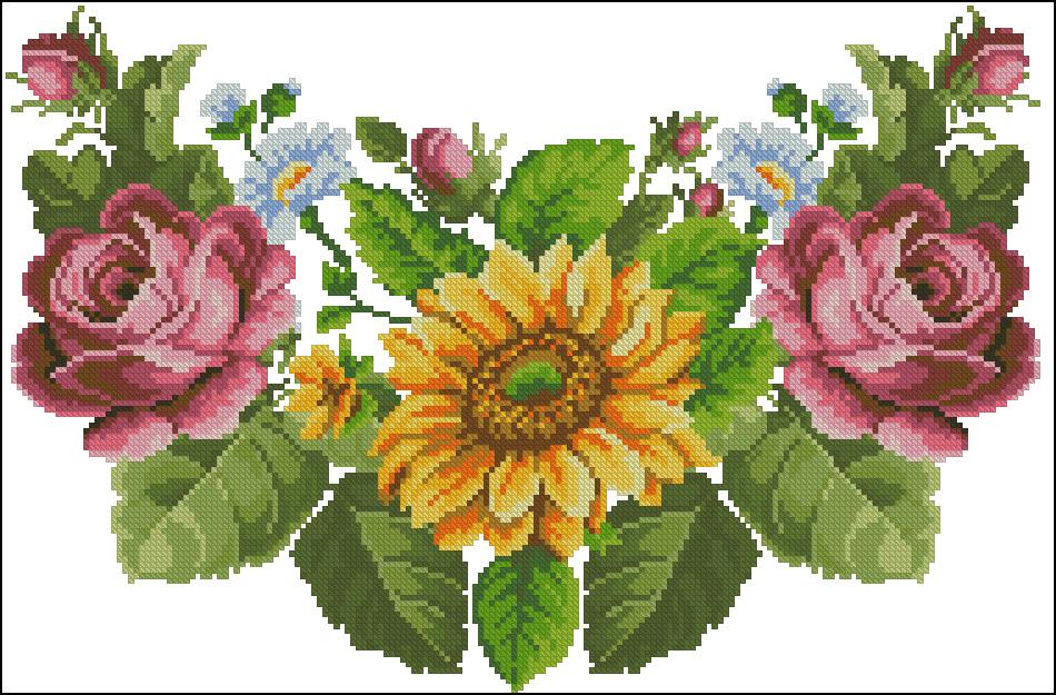 сорочка женская Розы,подсолнух
