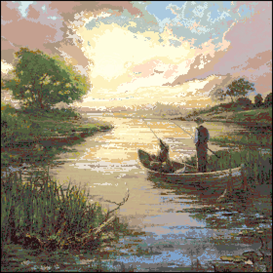 Вышивка про рыбалку