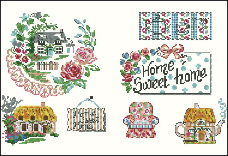 Вышивка крестом схемы home sweet home