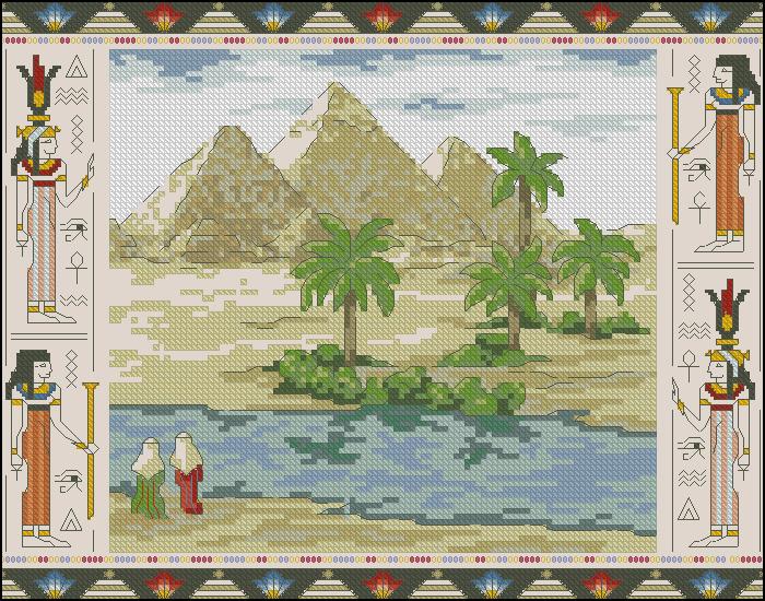 Схемы для вышивки крестом пирамиды