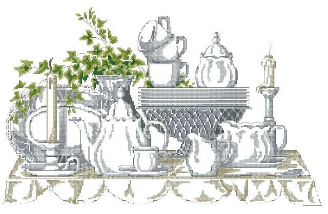 Чайный сервиз с плющем