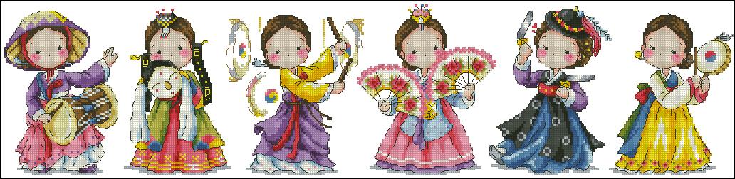 The traditional dance of Korea