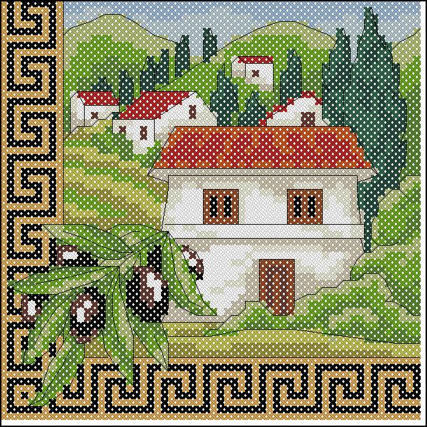 Схемы греческой вышивки бесплатно