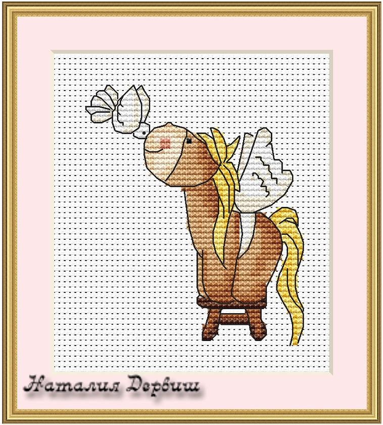 Вышивка лошадь маленькая 45