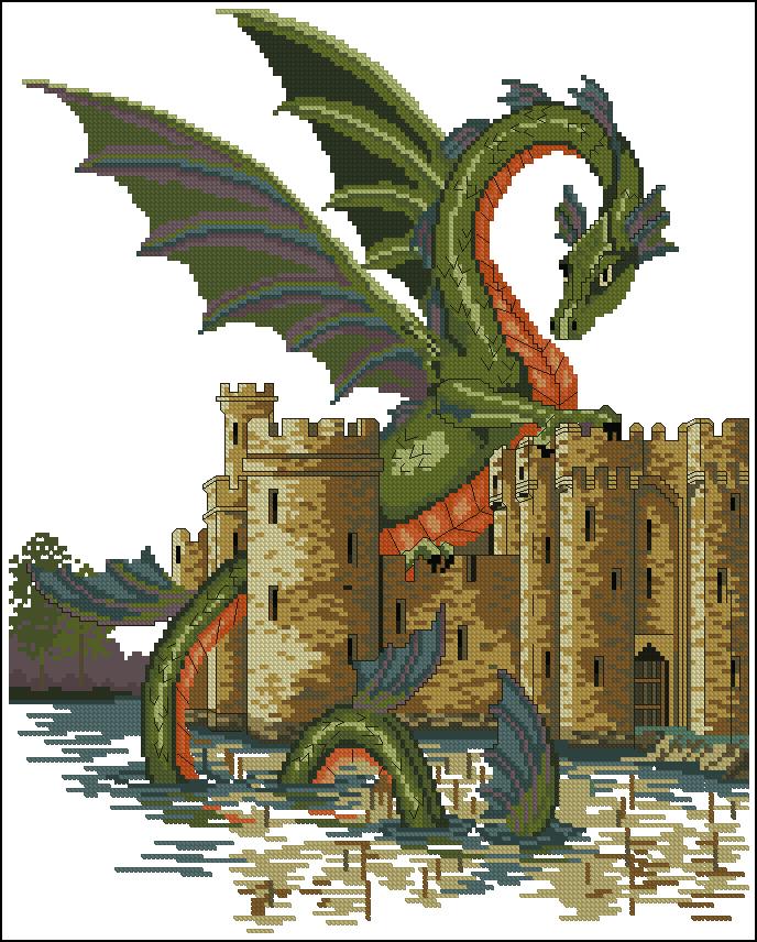 схемы для вышивки дракон скачать