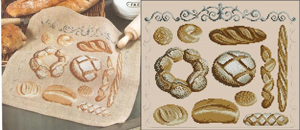 Схема вышивки крестом хлеба