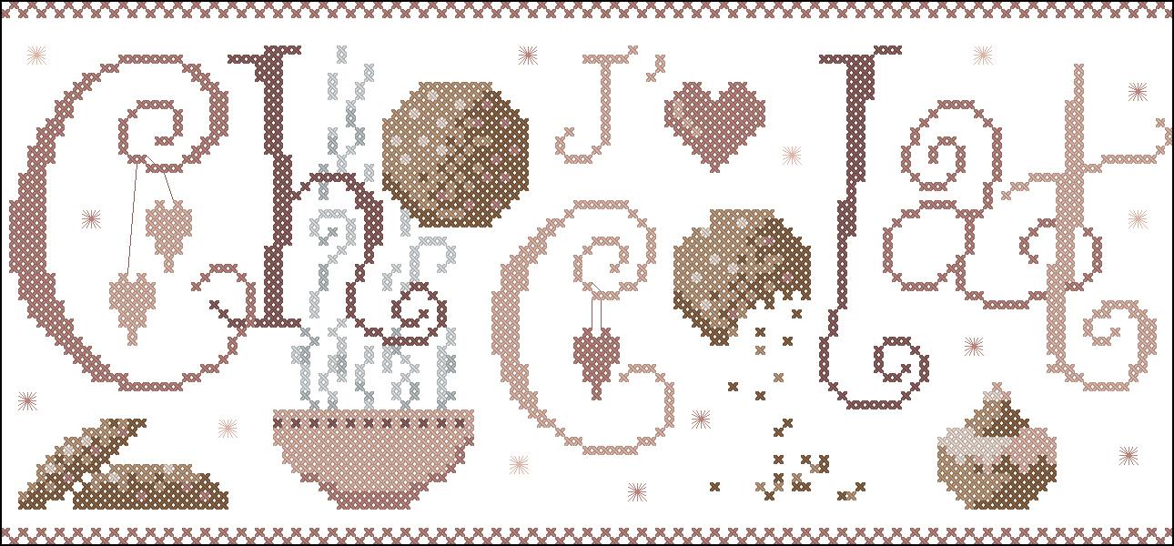 Схема вышивания шоколадница