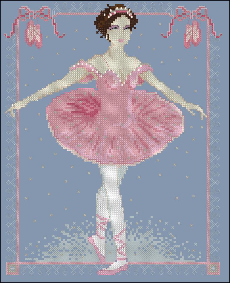 Бесплатные схемы для вышивки балерина