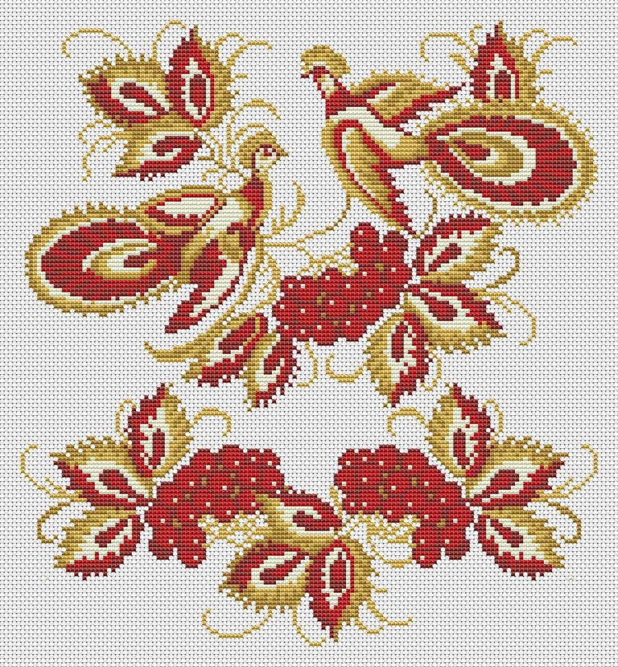 Схема вышивки крестом блузок