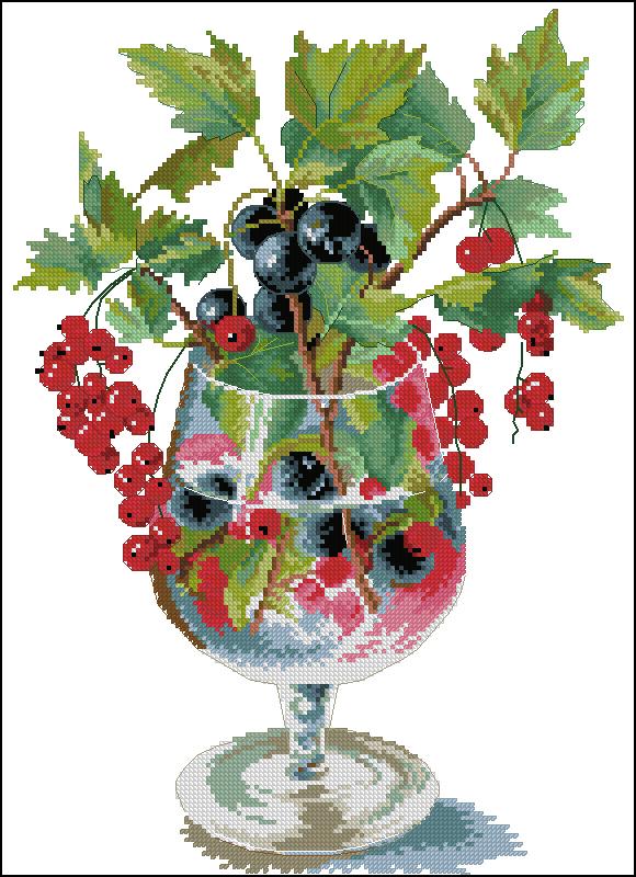 Схема вышивки крестом ягодный ликер
