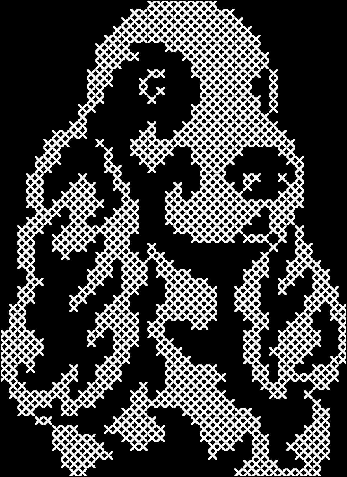 Схемы для вышивки крестом монохром собаки