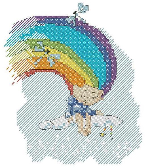 Схемы вышивки крестом радуги