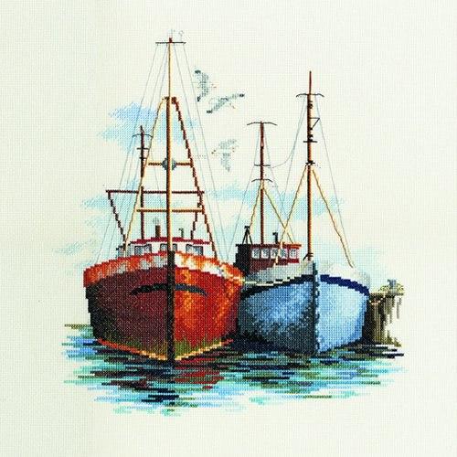 крестик лодка