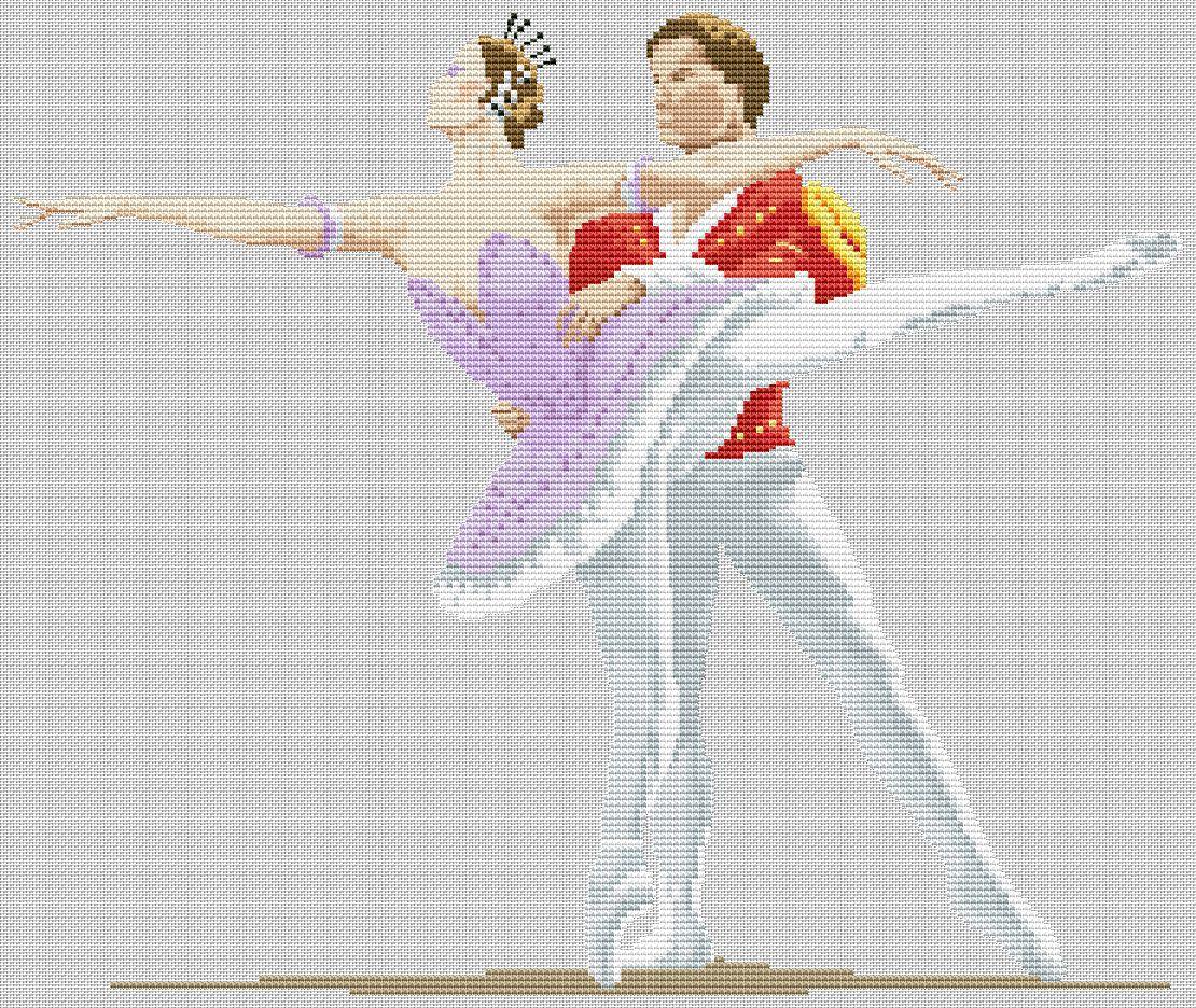 Схема вышивки с танцами 966