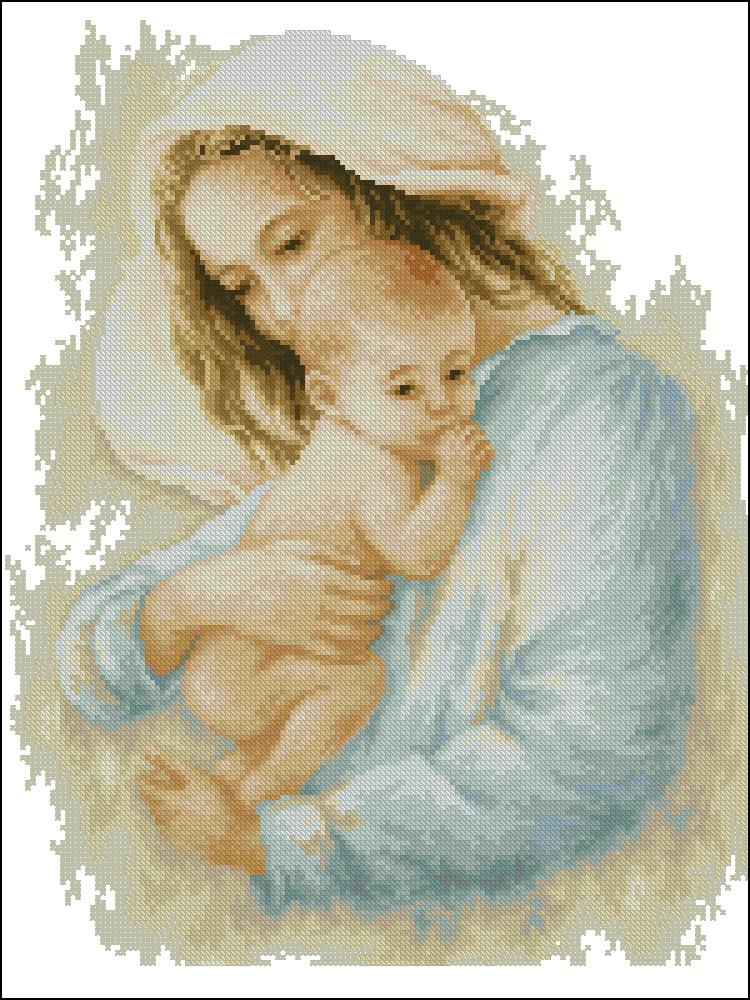 Материнство вышивка схема