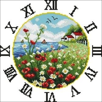 Часы схема вышивки крестом скачать фото 959