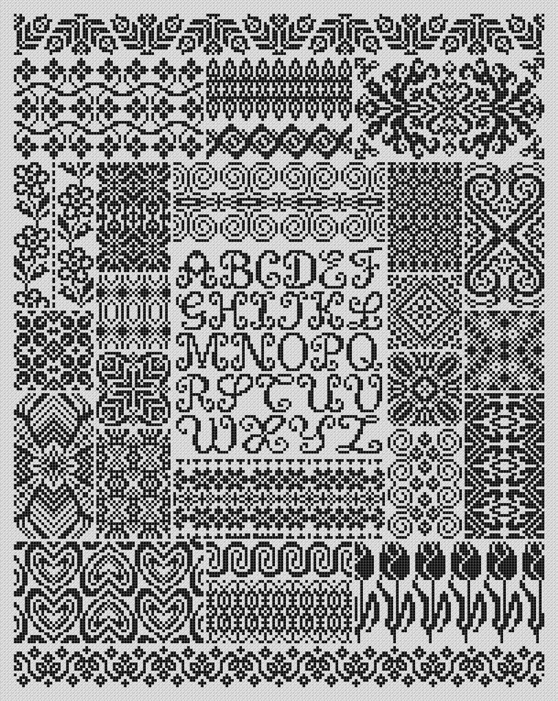 Вышивка крестом бесплатно схемы монохром