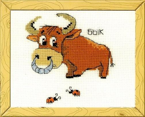 Вышивка крестом год быка схемы