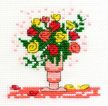 Винтажные розы вышивка мережка