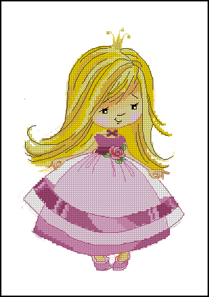 Вышивка схема принцесса